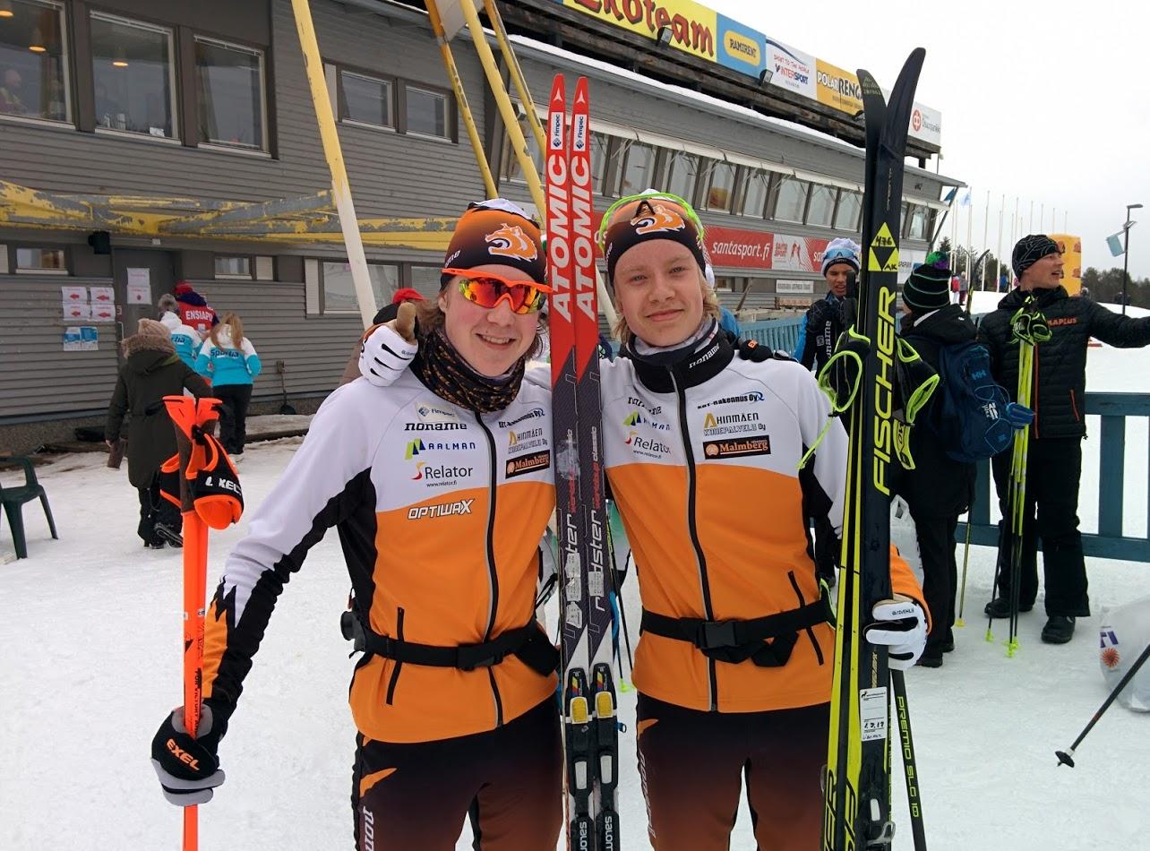 Arttu ja Tomi jatkavat Hiihtoliiton alle 18-vuotiaiden valmennusryhmässä