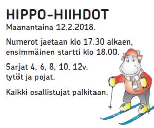 Hippo-hiihdot ma 12.2.2018 klo 18
